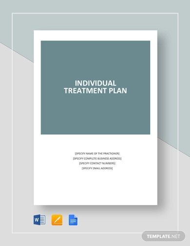 individual treatment plan template