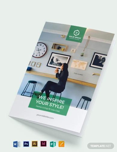 interior contractor bi fold brochure