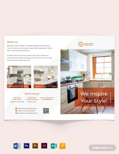 kitchen interior bi fold brochure