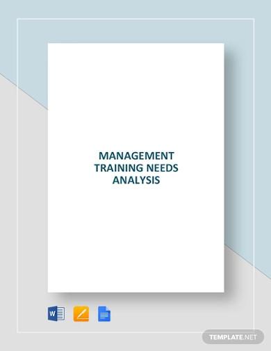 management training needs analysis template