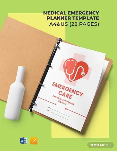 medical emergency planner template