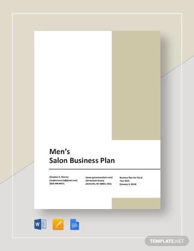 mens salon business plan