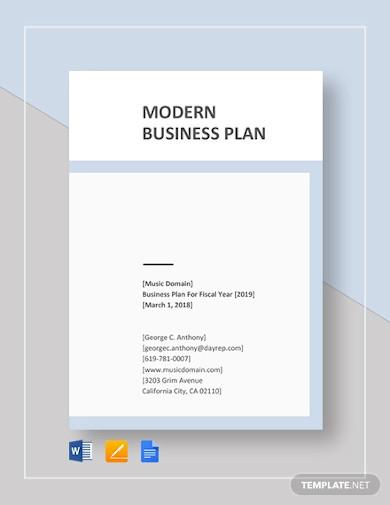 modern business plan template