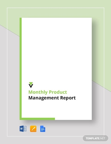 monthly product management report