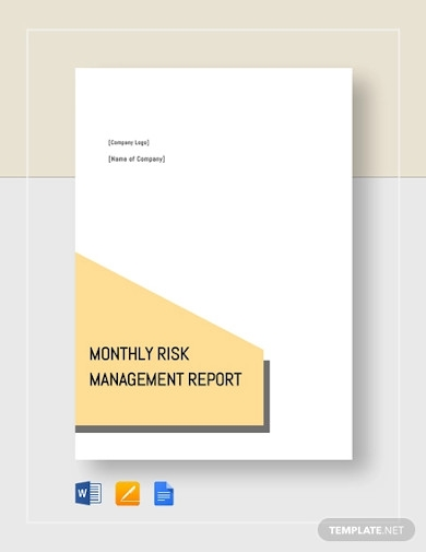 monthly risk management report