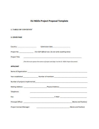 ngo project proposal on health