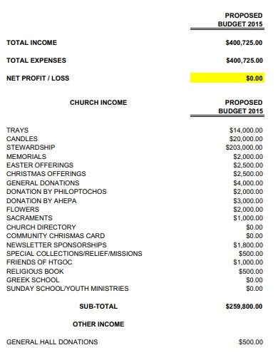 nonprofit annual budget