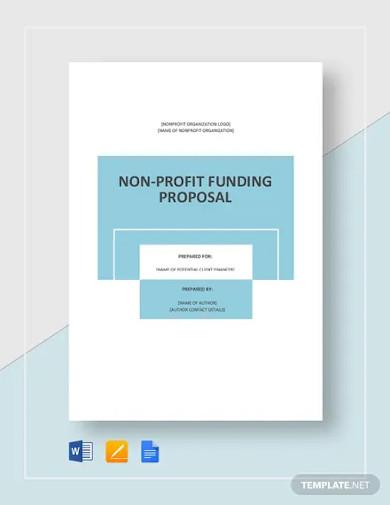 nonprofit fundraising proposal template