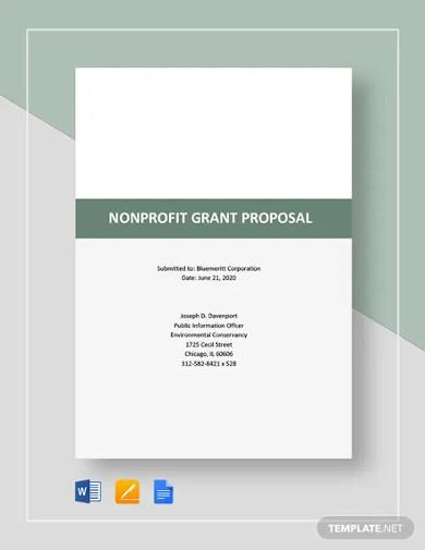 nonprofit grant proposal template