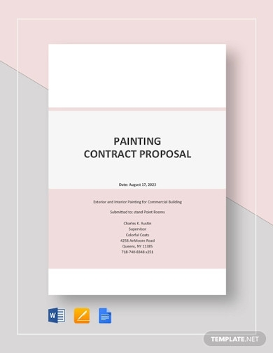 painting contract proposal template