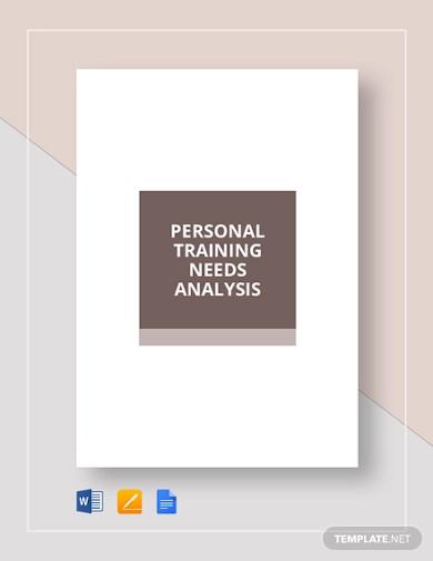 personal training needs analysis template