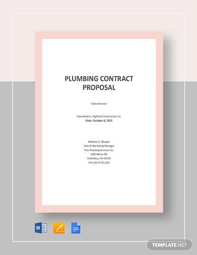 plumbing contract proposal