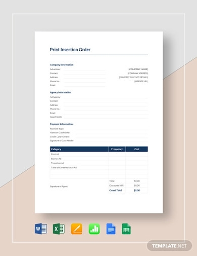 print insertion order