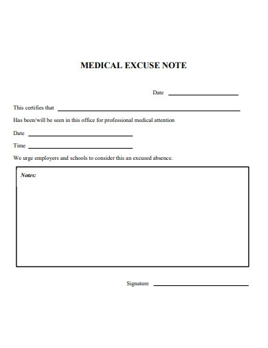 printable doctor excuse