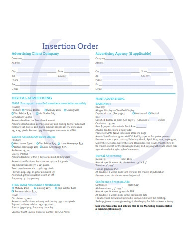 printable insertion order