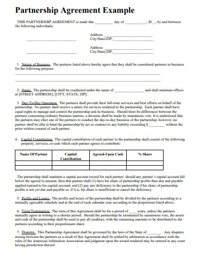 printable limited partnership agreement