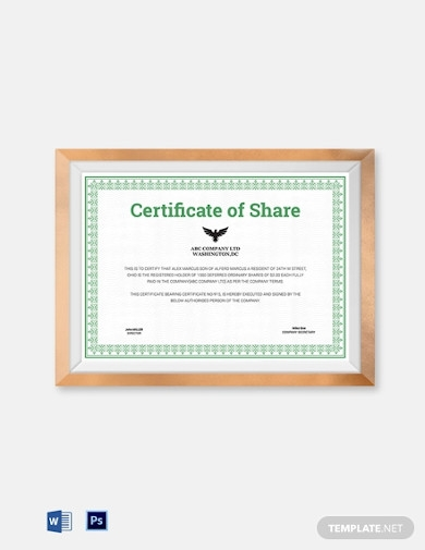 15 Printable Certificate Examples In Pdf Ms Word Psd Ms Outlook Examples