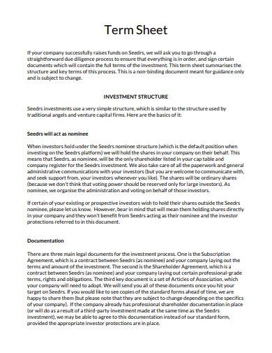 printable term sheet