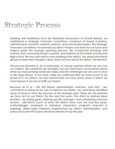 private school strategic plan