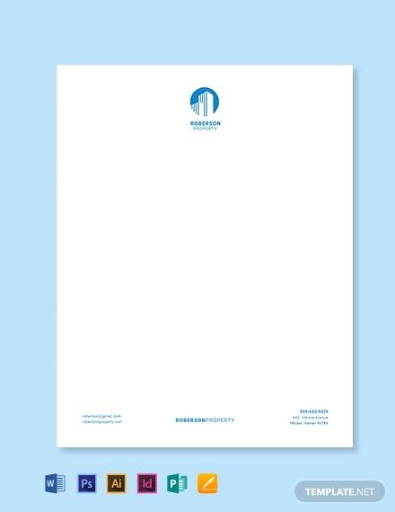 property dealer letterhead template