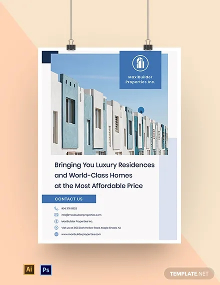 real estate advertising poster template