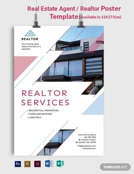 real estate agent realtor poster template