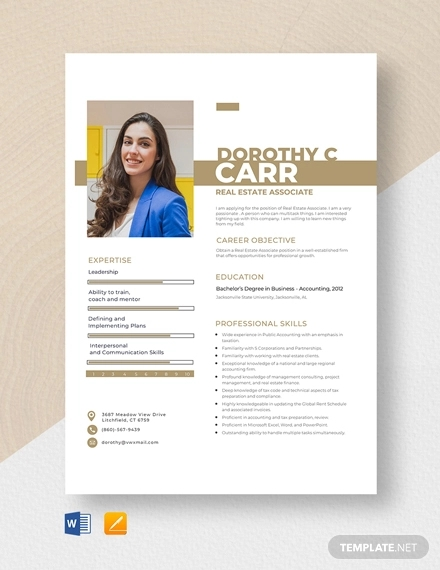18  best real estate resume examples  u0026 templates  download