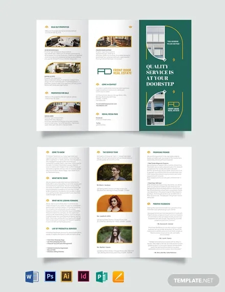 real estate expired listing tri fold brochure template
