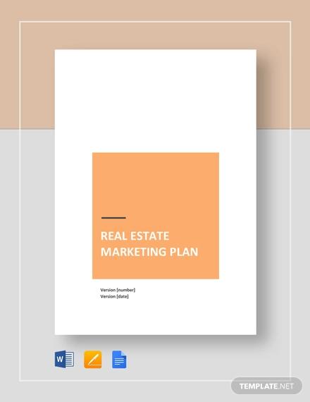 real estate marketing plan template