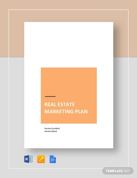 real estate marketing plan template1