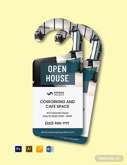 real estate open house door hanger template1