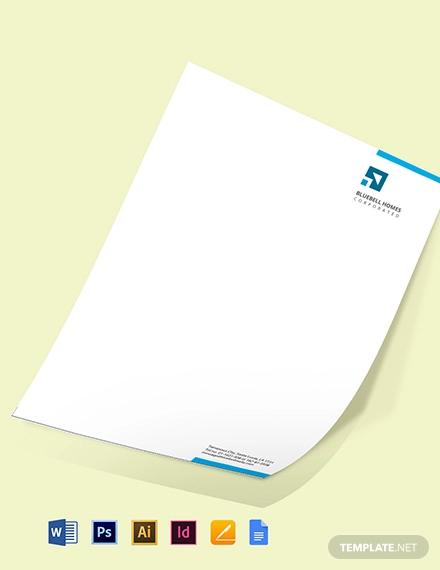 real estate property letterhead template