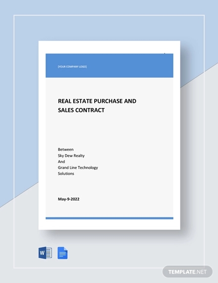 real estate purchase sales contract template