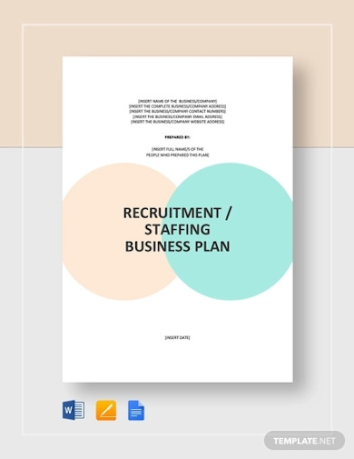 recruitment or staffing agency business plan