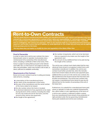 rent to own contract example