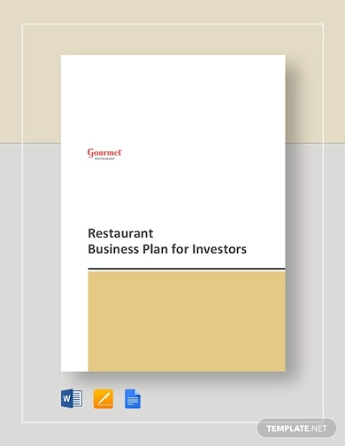 restaurant business plan for investors