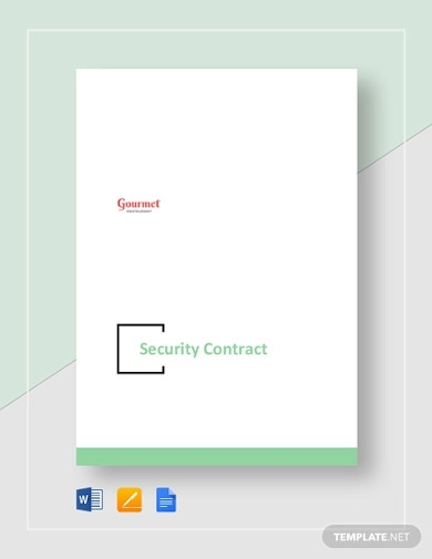 restaurant security contract