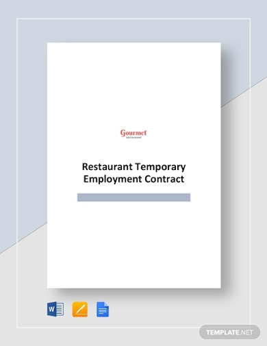 restaurant temporary employment contract