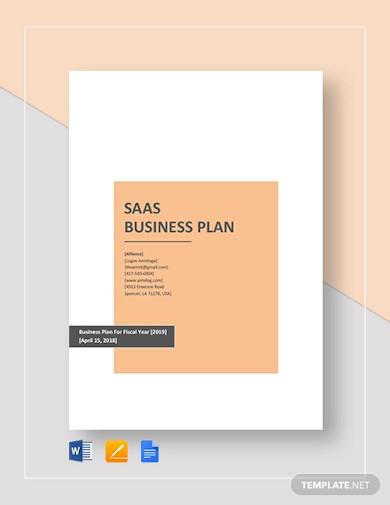 saas business plan template