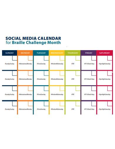salon social media calendar