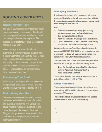 sample commercial roofing contract