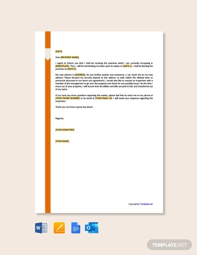 sample lease termination letter