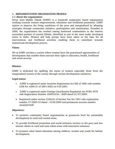sample ngo project proposal