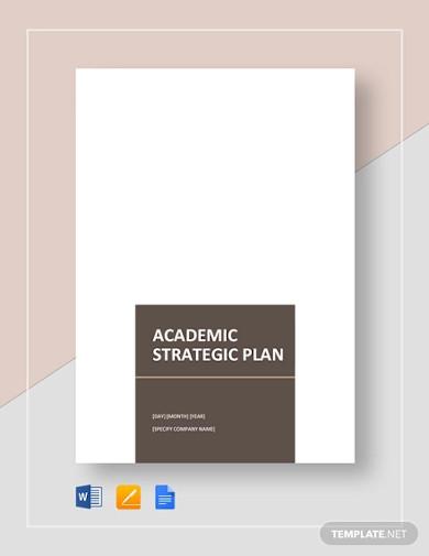 school academic strategic plan
