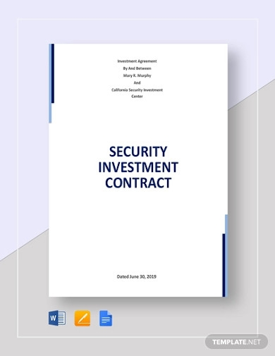 security investment contract