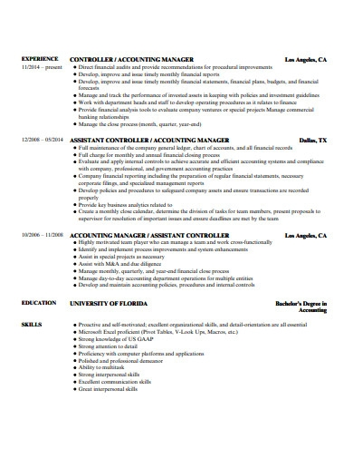 senior key account manager resume