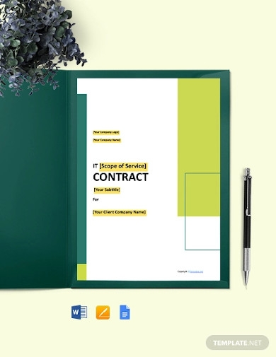 simple it contract template