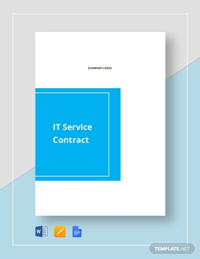 simple it service contract