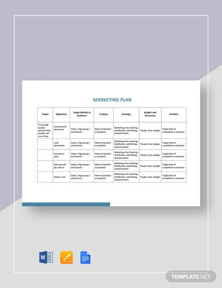 simple marketing plan template1