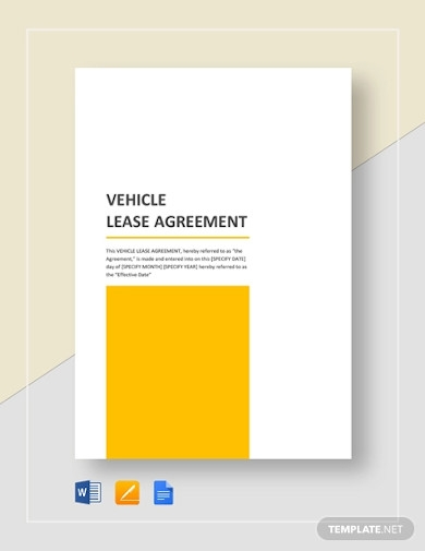 simple vehicle lease agreement